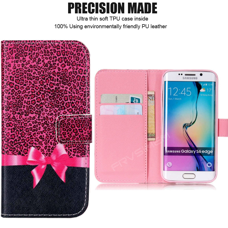 sneakers for cheap 51855 ed7f1 Wallet Flip Cover Leather Art Flower Case For Samsung GALAXY S3 Neo i9301i  S4 i9515 S5 i9600 S6 S7 edge S8 Plus