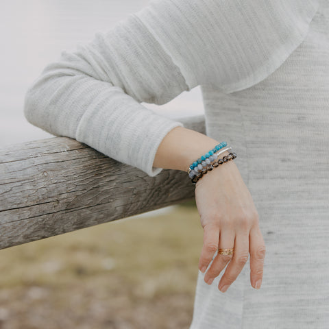 Blue Apatite Bracelet | Communication, Motivation, Clarity