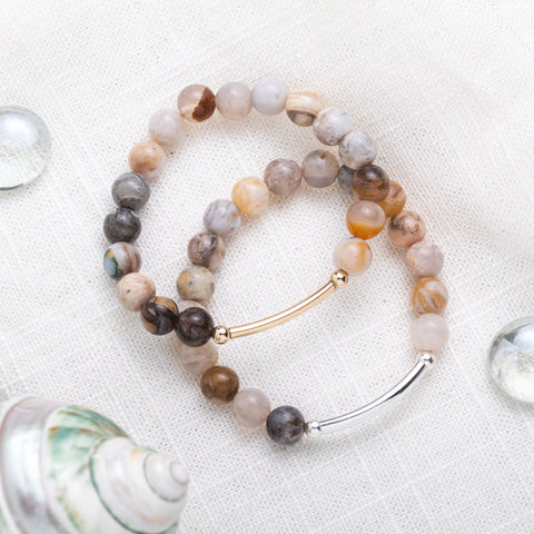 Botswana Agate Bracelet | Strength, Protection, Healing
