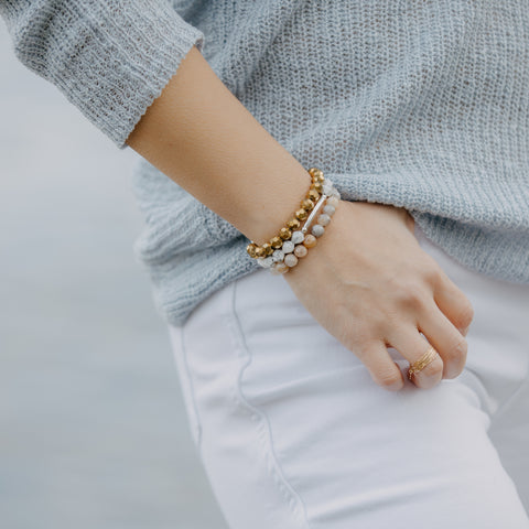 Golden Druzy Agate Bracelet | Joy, Strength, Healing
