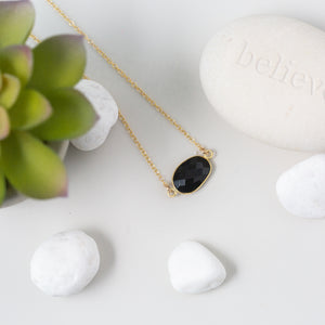 I Am Badass   Spinel Necklace in Gold