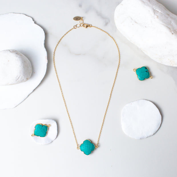 I Am Complete | Turquoise Necklace in Gold 1