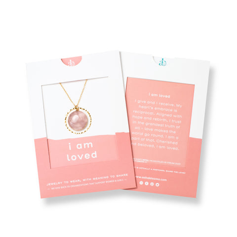 I Am Loved | Rose Quartz Necklace in Gold or Silver