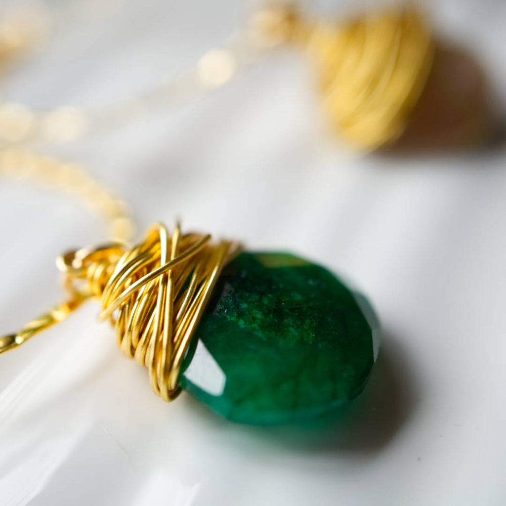I Am Whole Necklace - Gold with Emerald