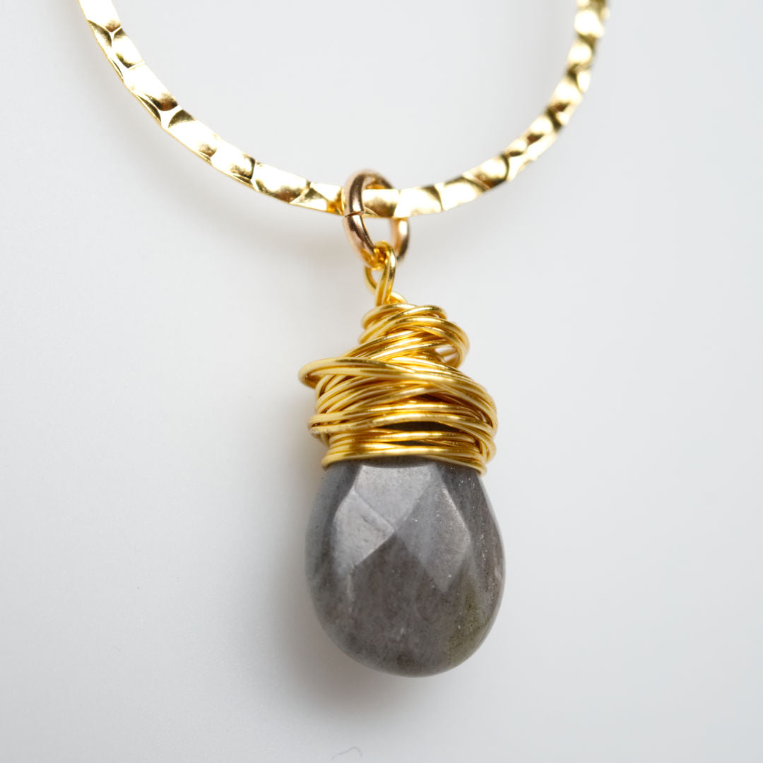 I Am Whole Necklace - Gold with Labradorite