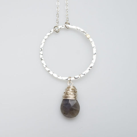 I Am Whole Necklace - Silver with Labradorite