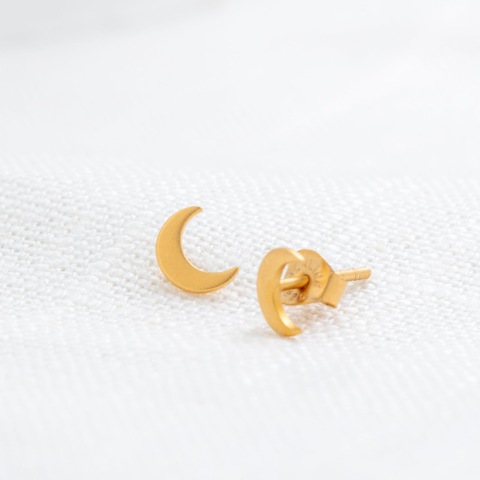 Petite Moon Stud Earrings
