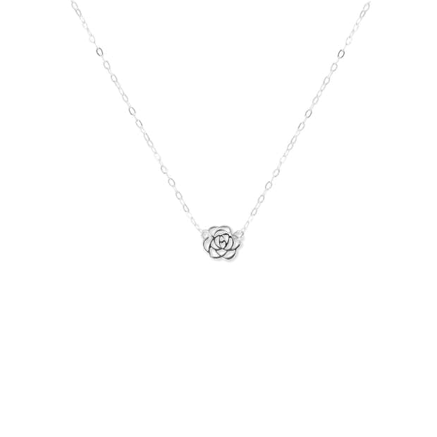 Thank You | Silver Rose Pendant Necklace 1