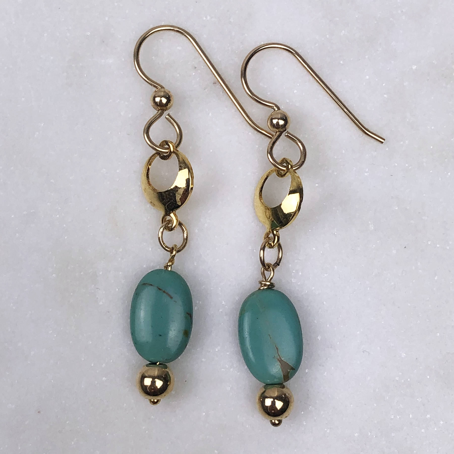 Turquoise Crescent Earrings | Well-Being, Balance