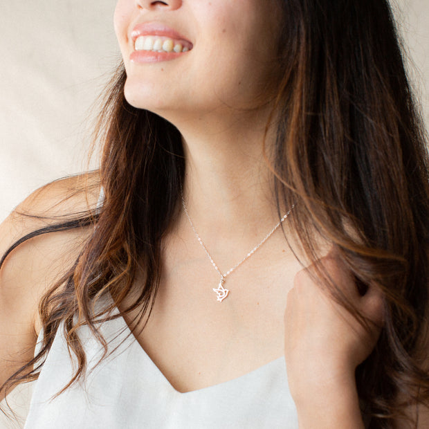 You Are Free to Soar | Gold or Silver Bird Pendant Necklace 1