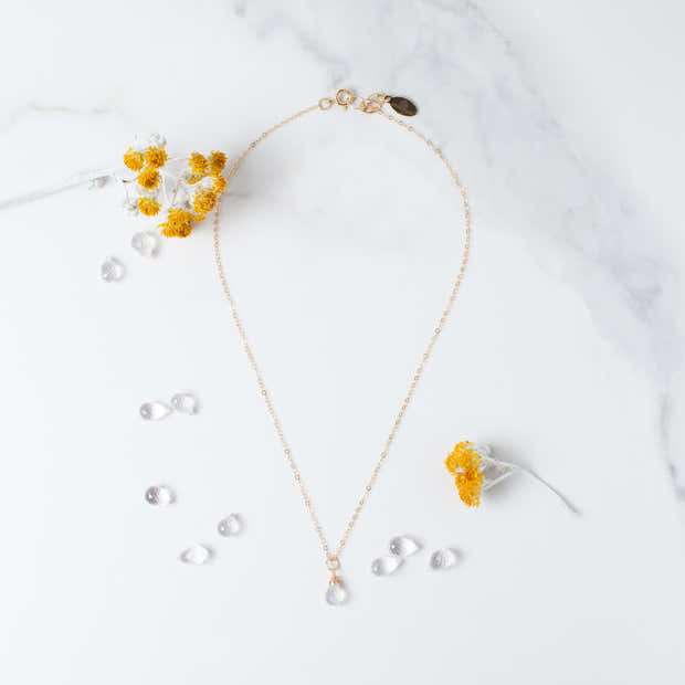 You Are Loved | Rose Quartz Necklace in Gold or Silver 1