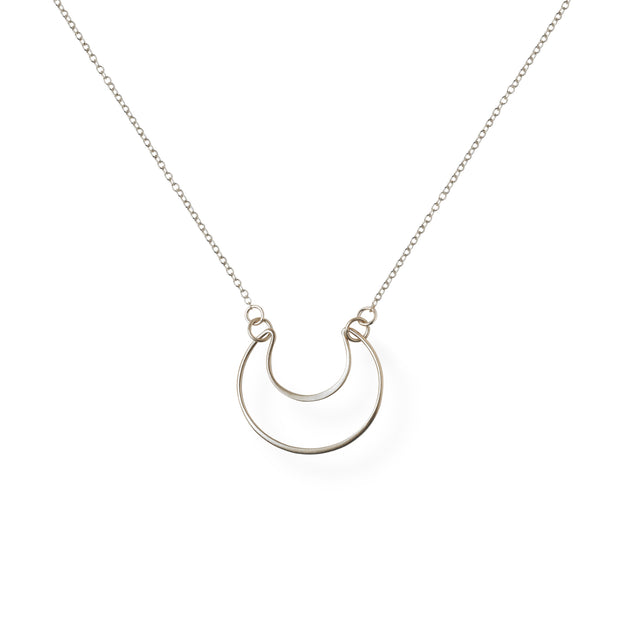 You Are Still Standing   Gold or Silver Crescent Moon Pendant Necklace 1