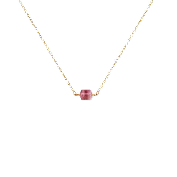 You Rock | Rubellite Tourmaline Necklace in Gold or Silver 1