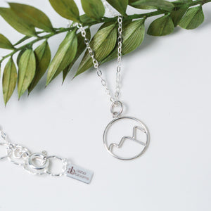 You've Got This    Silver Mountains Pendant Necklace