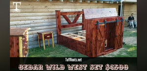 Red Cedar Wild West Bedroom Suite