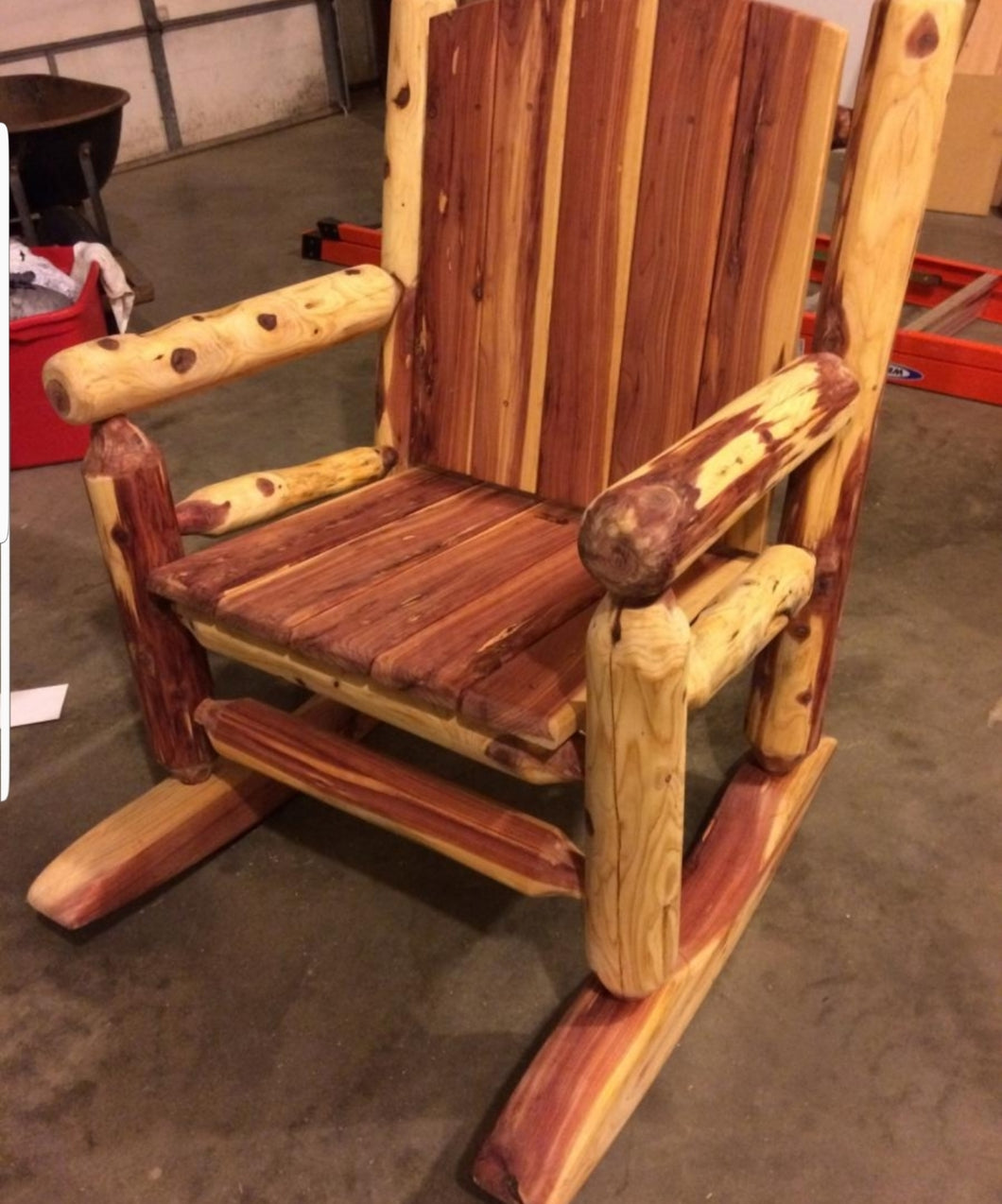 Cedar Outside Rocking Chair