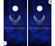 1 airforce 1 law enforcement cornhole board with ring lights
