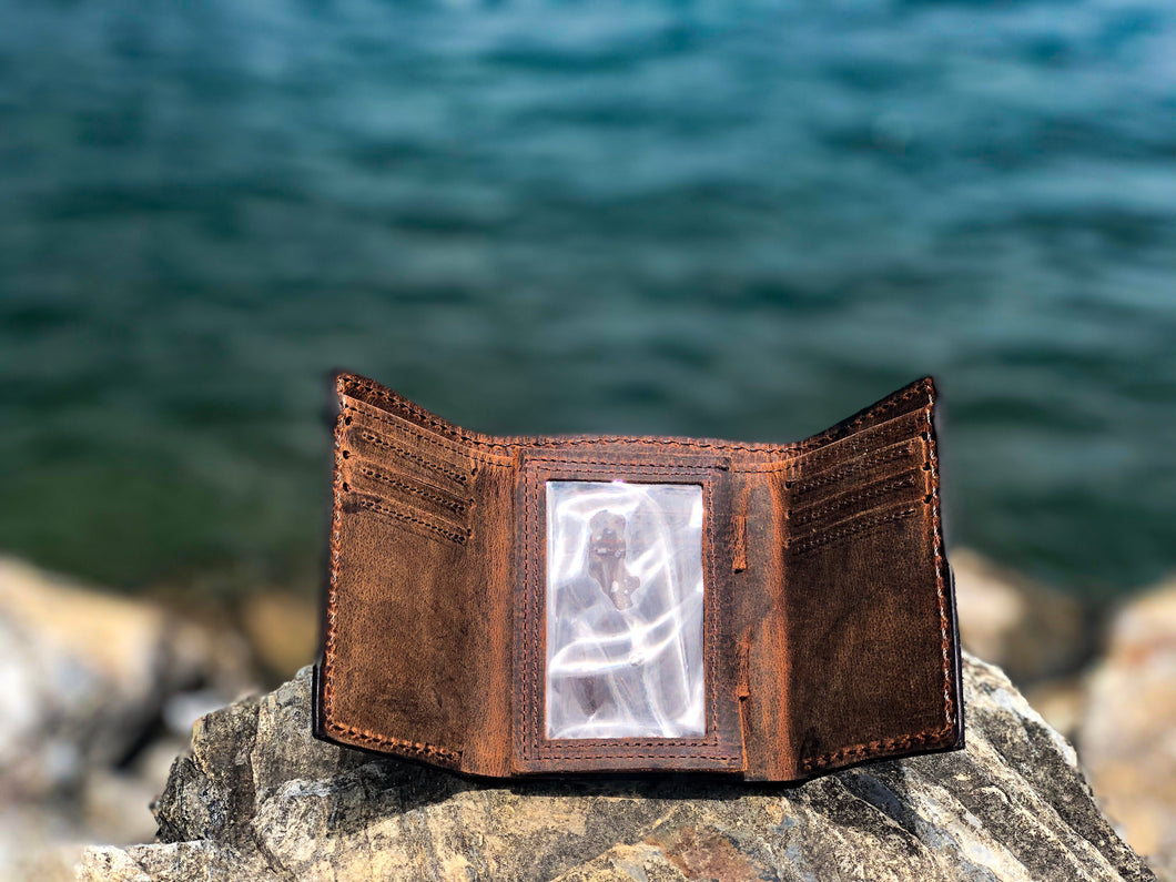 Bison Trifold Wallet