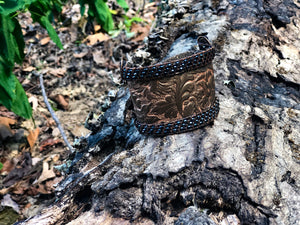 Tooled Soft Leather Cuff