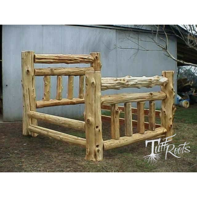 Log Style Double Barrel bed - Master Beds