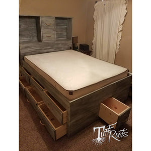 Mega Storage Platform Bed - California King / Mega Storage / Gray Wash - Master Beds