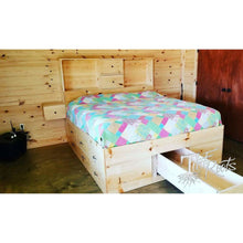 Mega Storage Platform Bed - California King / Mega Storage w/ Floating Nightstands / Natural - Master Beds
