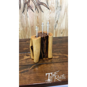 Oil wick cedar display (small) - Wick candle display
