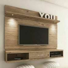 Mounted Entertainment Center with Floating Shelves