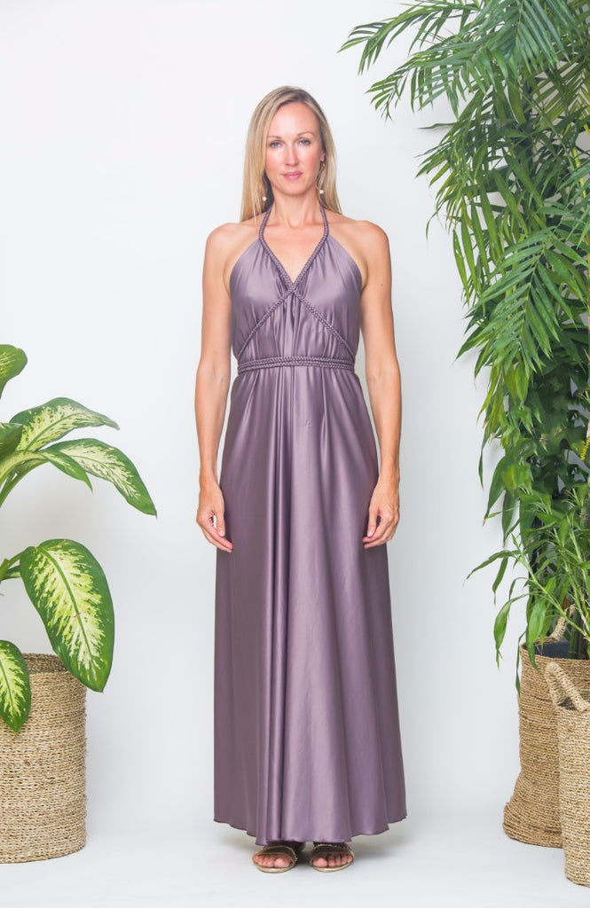 Kepang Dress Metal Shimmer Satin - No Frill