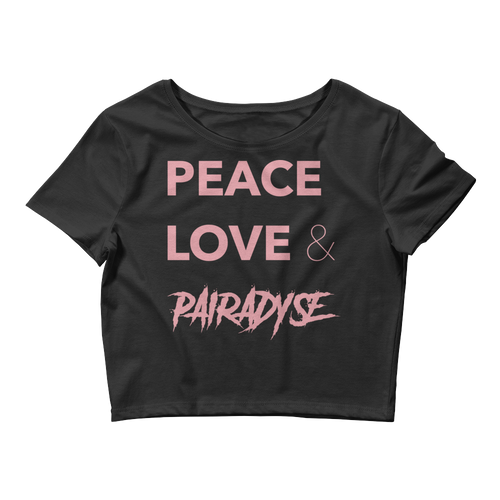 Peace, Love & Pairadyse Crop Top