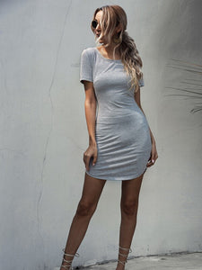 Fitted Solid Dress
