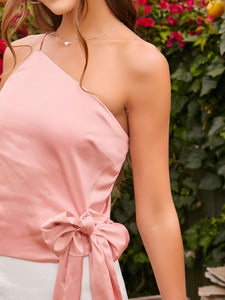 One Shoulder Tie Side Top