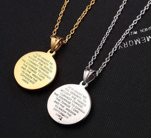 Serenity Prayer Jesus & Virgin Mary Necklace
