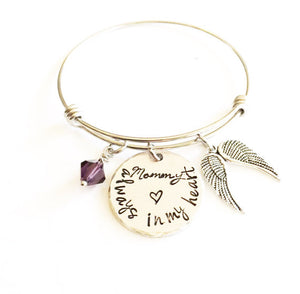 Memorial bracelet - Remembrance jewelry - Mom