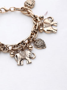 Shaped Charm Bracelet Elephant And Heart