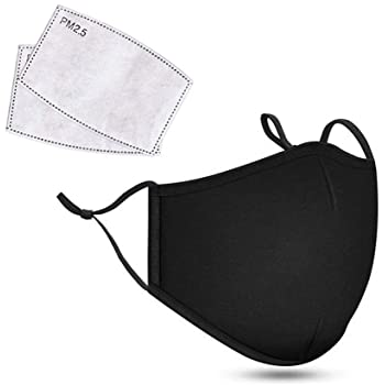 Face Mask 2 Pcs with Filter 20 Pcs Activated Carbon