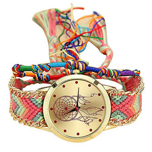 Womens Watch Dreamcatcher Vintage Handmade Braided