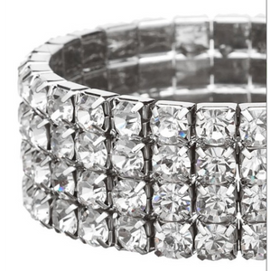 Four Row Crystal Bracelet