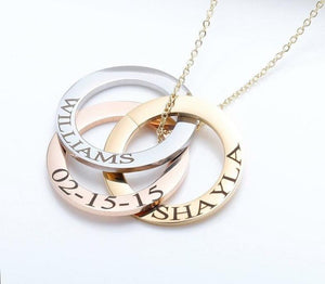 Personalized Minimalist Necklace - Engraved circle