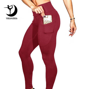 FitFlex Yoga Running Pants with Side Pocket