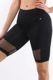 Malibu Seamless Activewear Shorts - Black