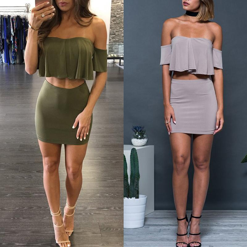 Sexy Crop Top & Mini Skirt