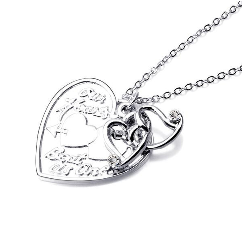 Our Hearts Beat As One Pendant