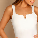 Sleeveless Bodysuit V-Cut Front
