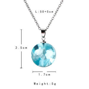 Nature Blue Sky White Necklace