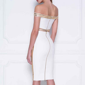 Sequin Bandage Sexy Slash Dress