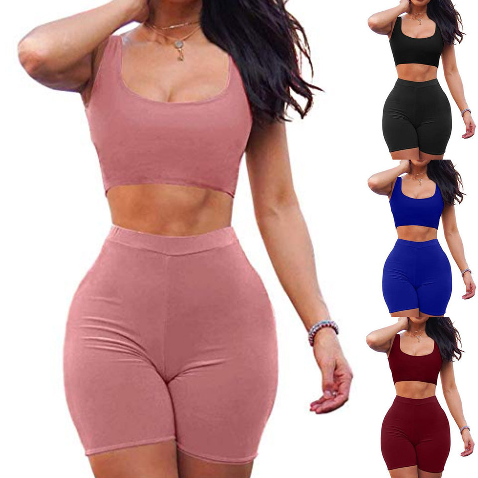 Set Two Piece Outfits Sleeveless