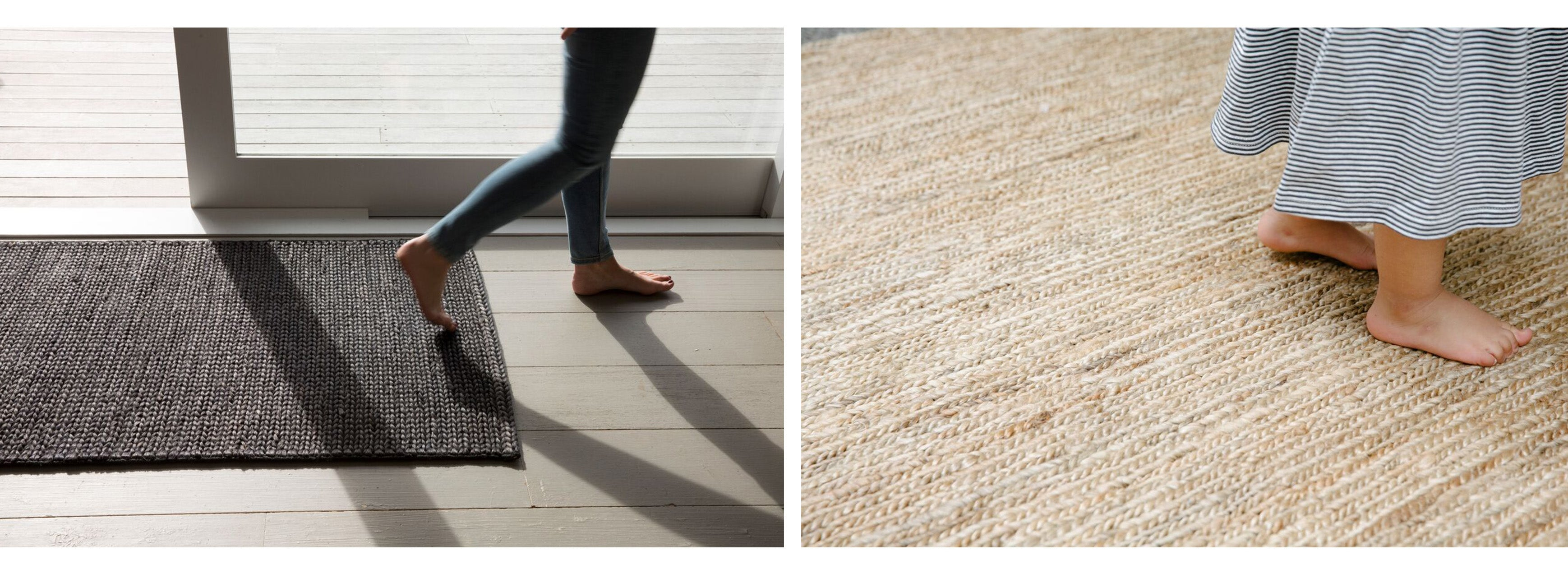Braided Jute Rug in Natural handmade by Nodi Rugs