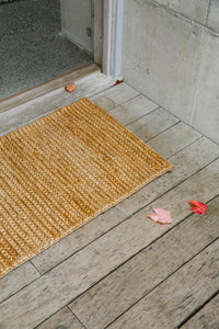 Pony Braid Entrance Mats in Natural handmade by Nodi Rugs