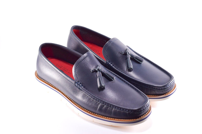 NAVY BLUE MARTIN LOAFER - No Lost Sole